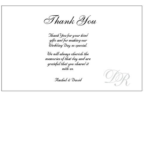 Signed with Love - Thank You Card