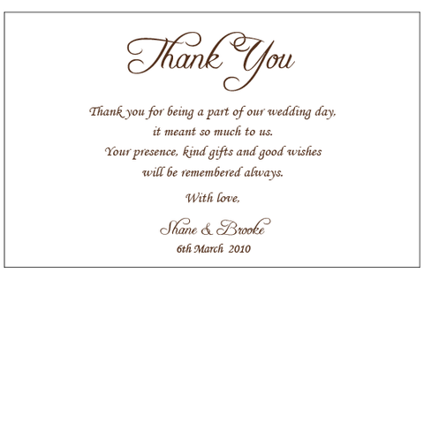 Classic Elegance - Thank You Card