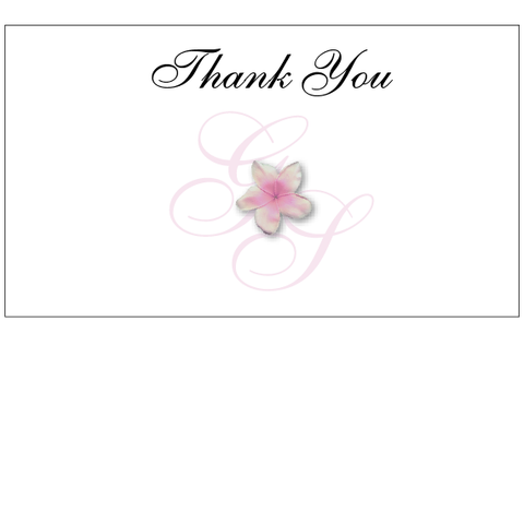 Crafty Tab With Flower Print - Thank You Card