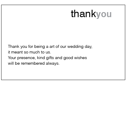 Modern Simplicity - Thank You Card