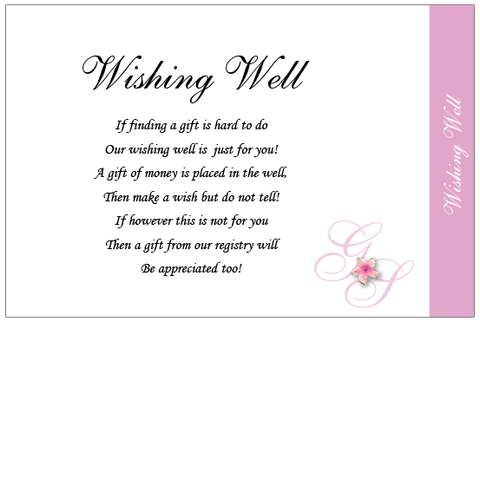 Crafty Tab With Flower Print - Wishing Well