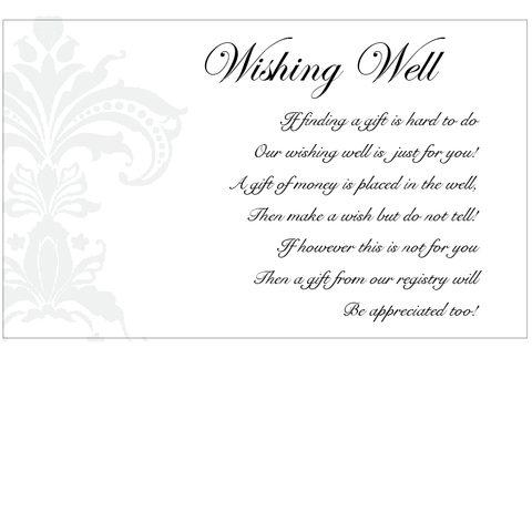 Black Pinstripe Damask - Wishing Well
