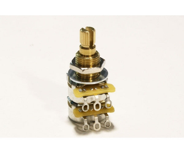 Potentiometer - 250K CTS blend/balance audio taper pot, with centre detent, with hardware