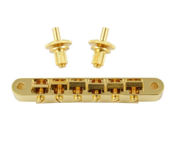 Guitar bridge - ABM Tone'a'matic - plated brass -  w/hardware,  53mm string, 74mm post spacing
