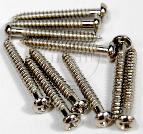 Single Coil Pickup Mounting Screws Nickel - sets of 10