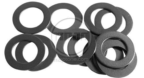 Amp washers - dress washers for toggle/footswitches (steel/fits most) (pk12)