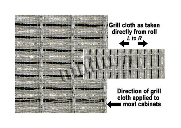 "Amp grill cloth - Fender style - black/white/silver - 36"" wide (per yard)"