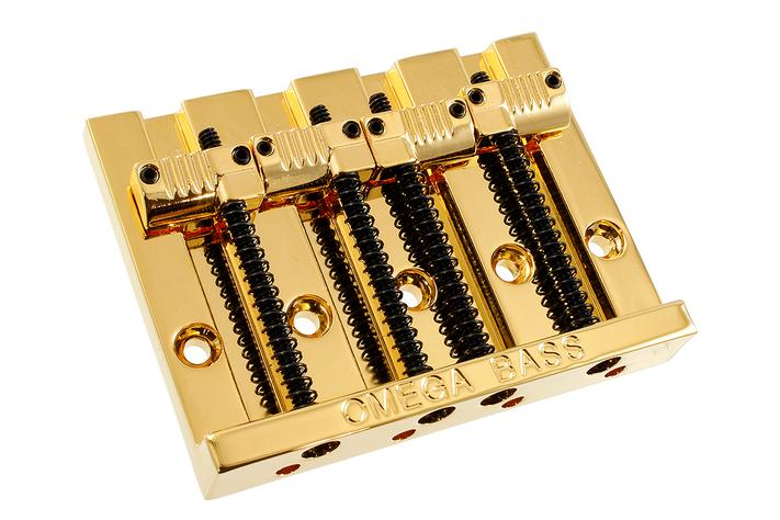 Bass Bridge - 4 String - Omega® Bass Bridge - Top Loading - with Grooved Saddles