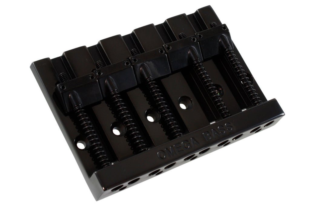 "Omega Bass® 5-string bridge, 3"" (76.2mm) string spacing, with mounting screws"