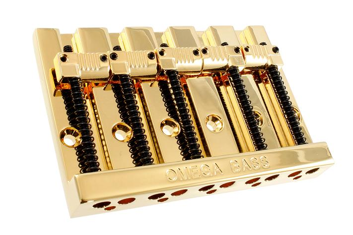 "Omega Bass® 5-string bridge, 3"" (76.2mm) String Spacing, with Grooved Saddles"