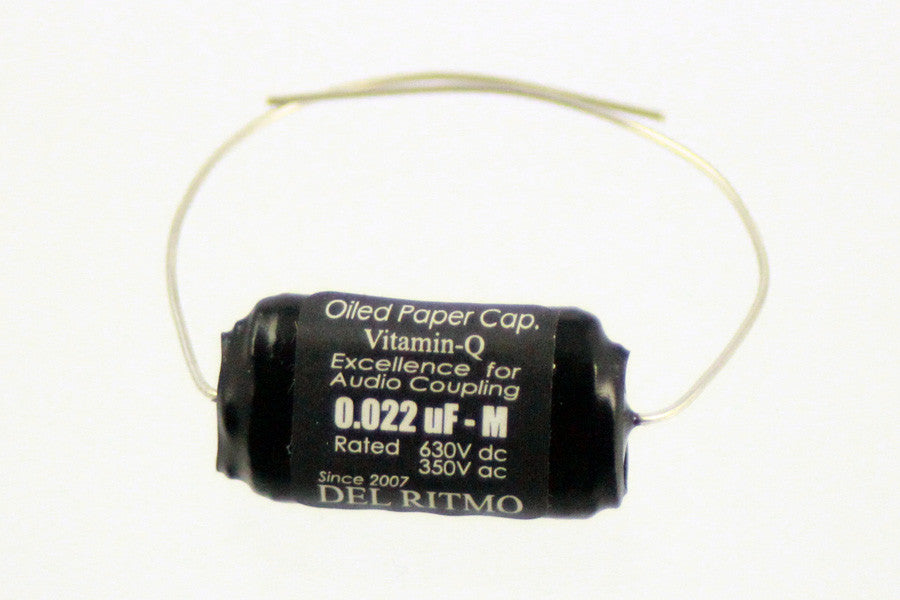 Capacitor - Vitamin Q Black Candy oil-paper capacitor - 0.022 mfd