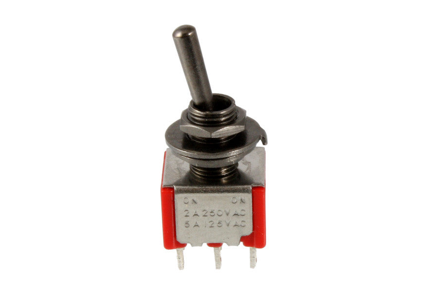 Mini switch DPDT - round bat - on-on-on