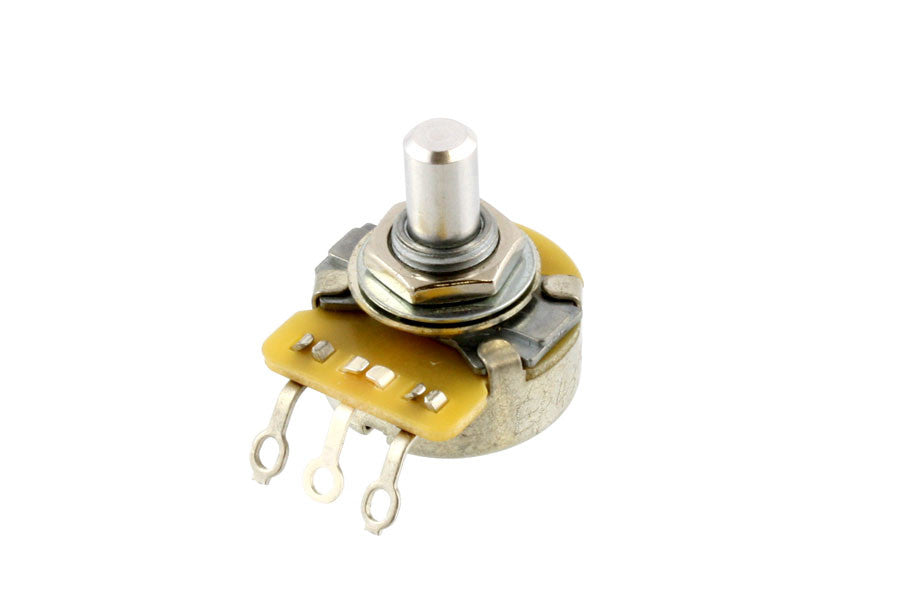 Potentiometer - 250K audio pot - CTS vintage style - solid shaft with nut -  lock and dress washer