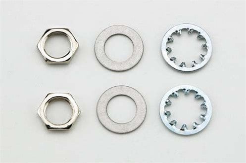 Nuts (2) star washers (2) smooth washers (2) for USA pots and input jacks