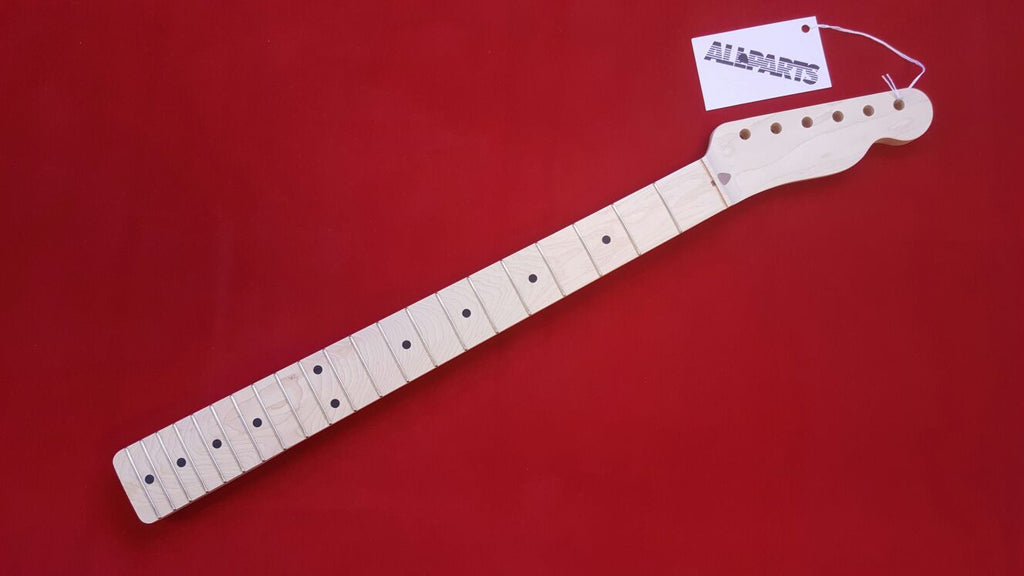 Guitar neck - replacement neck for Tele - solid maple - no finish - chunky