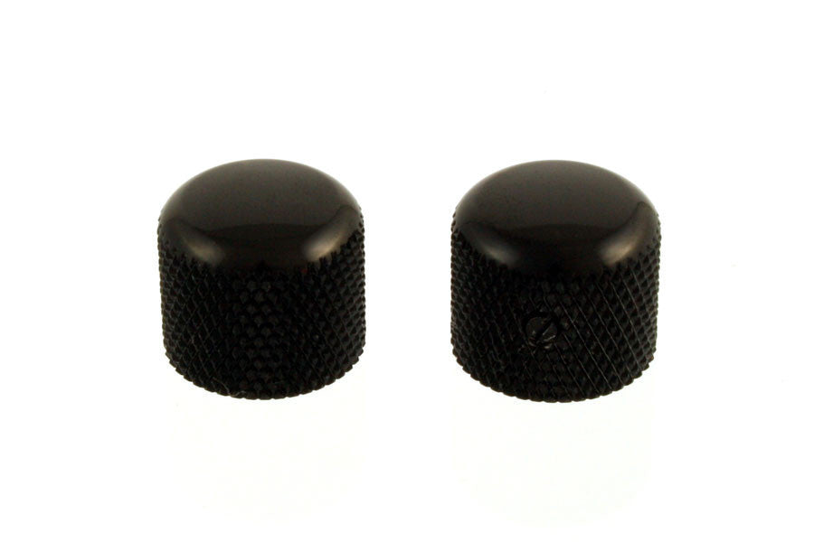 Knobs - metal dome knobs - short  - fit USA split shaft pots (2)