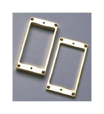Humbucking pickup ring set slanted flat underside metal