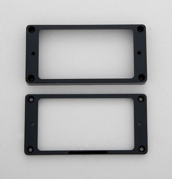 Pickup surrounds for Humbucker - not-slanted flat underside plastic