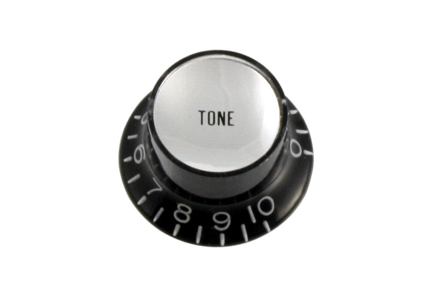 Knobs - reflector cap TONE knobs w silver inserts (Pack of 2)