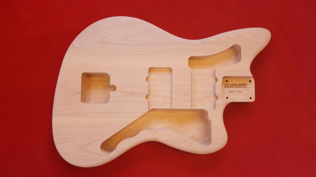 Guitar body - replacement body for Jazzmaster - no finish - alder
