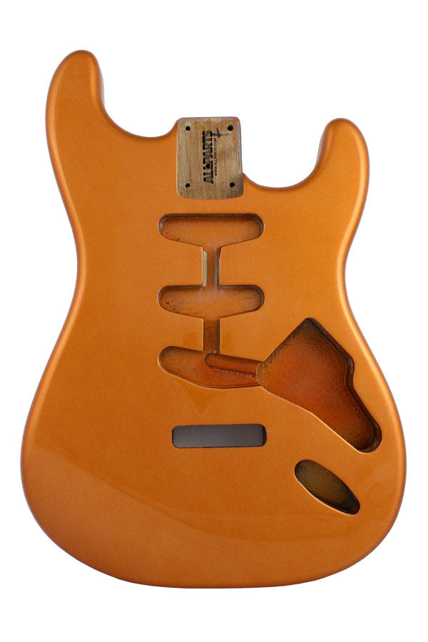 Guitar body - replacement body for Strat - finished - candy apple orange