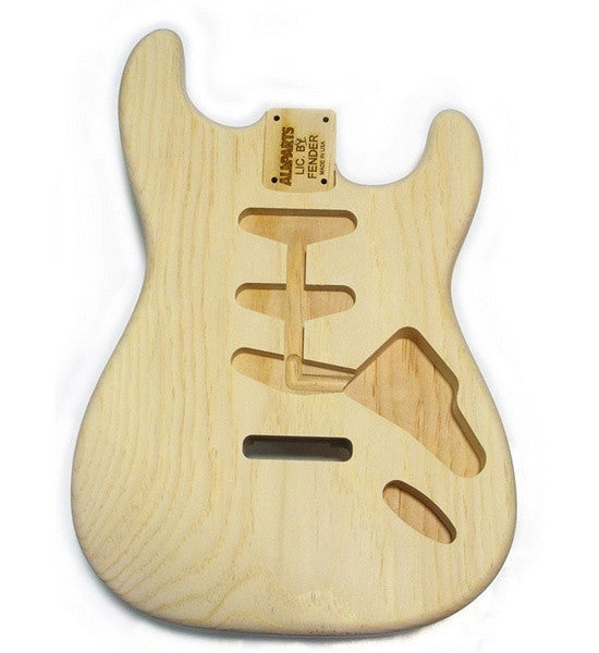Guitar body - Replacement body for Strat - sugar pine - tremolo routing - no finish