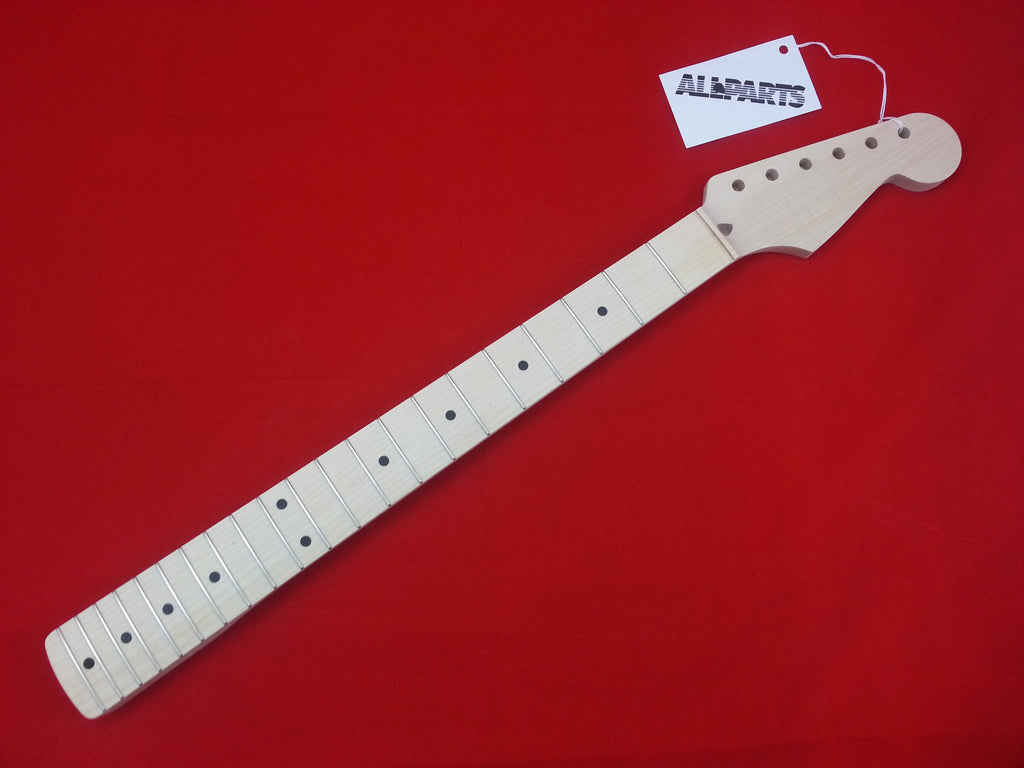 Guitar neck - replacement neck for Strat® - solid maple - no finish  - chunky