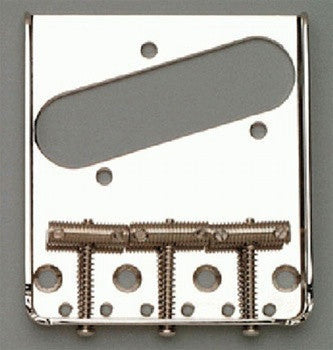 Guitar bridge - vintage-style 3 saddle bridge for Tele - left-handed