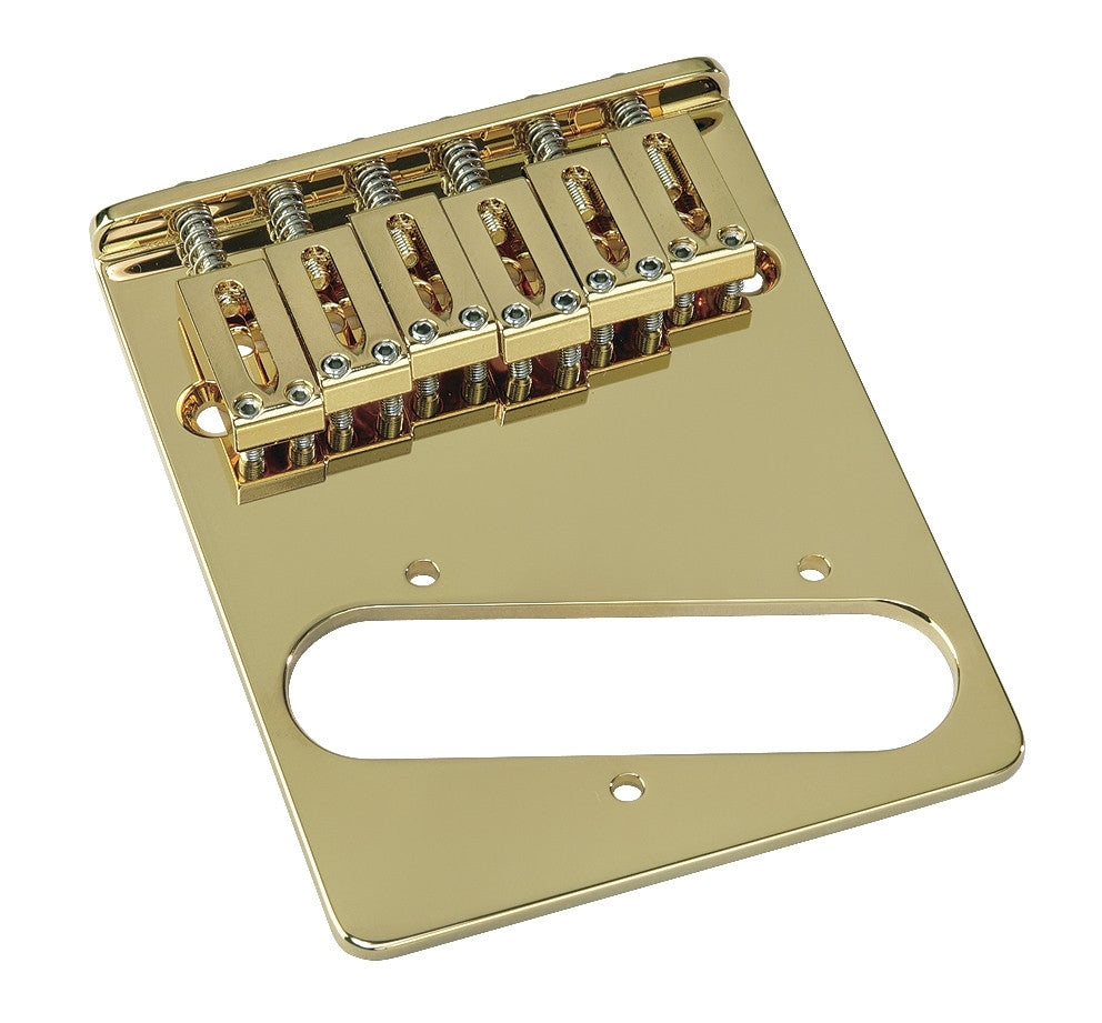 Guitar bridge - 6 saddle brass bridge for Tele w rectangular saddles