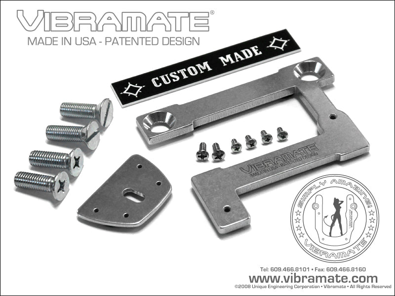 Vibramate V7-335-E mounting kit for Bigsby B7 - arched top guitars - E Series - nickel