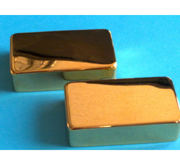 Humbucking pickup covers - set - no holes