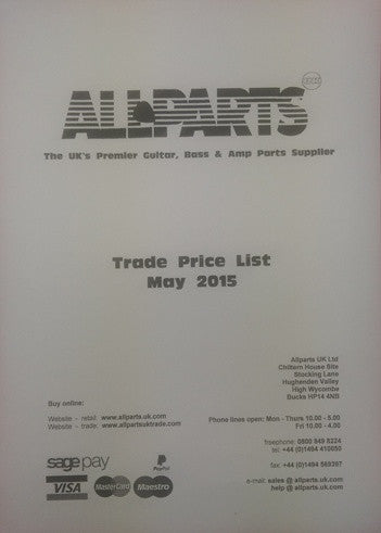 Allparts price list - trade
