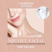 Load image into Gallery viewer, AquaJet Facial for oily, acne-prone skin with clogged and enlarged pores. First Trial at $160