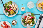 Grilled Halibut with Rhubarb