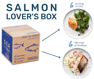 Salmon Lover's Box contents