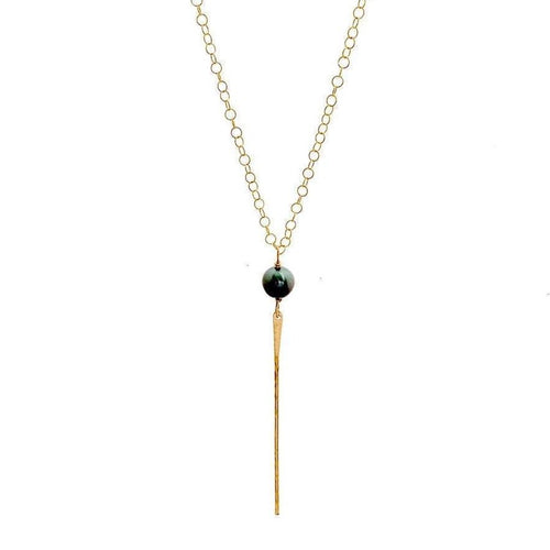 Tahitian pearl spike necklace