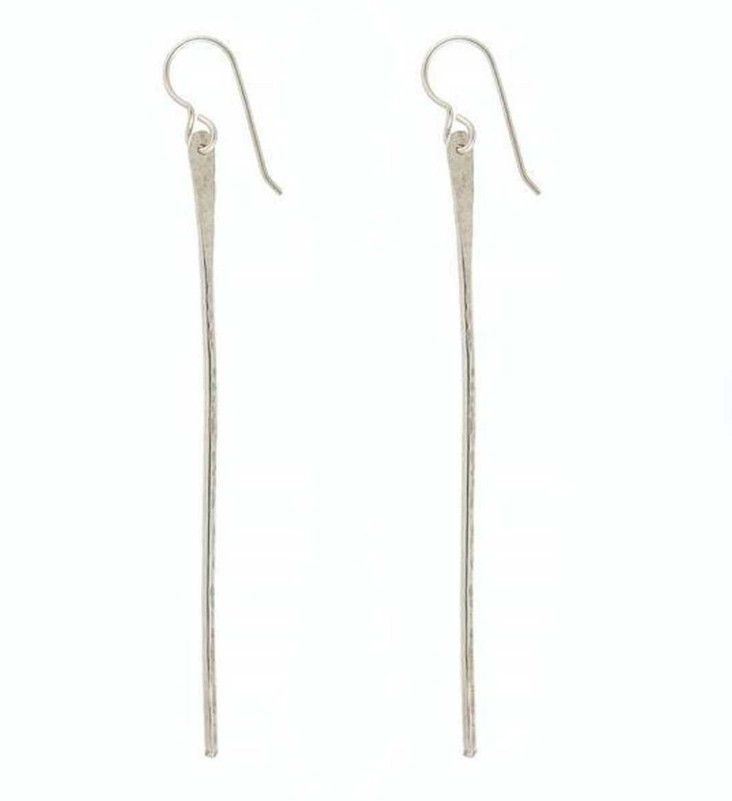 Pahi Silver Spike Earrings