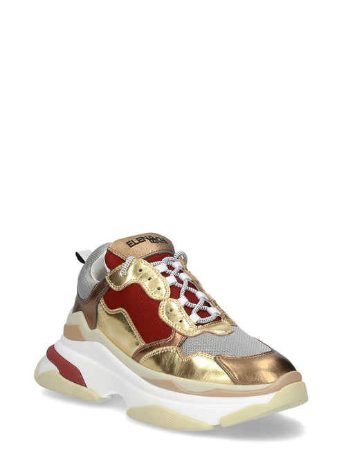 Sneaker touch oro burgundy