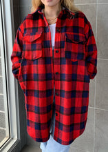 Load image into Gallery viewer, C'est Moi Long Plaid Shacket