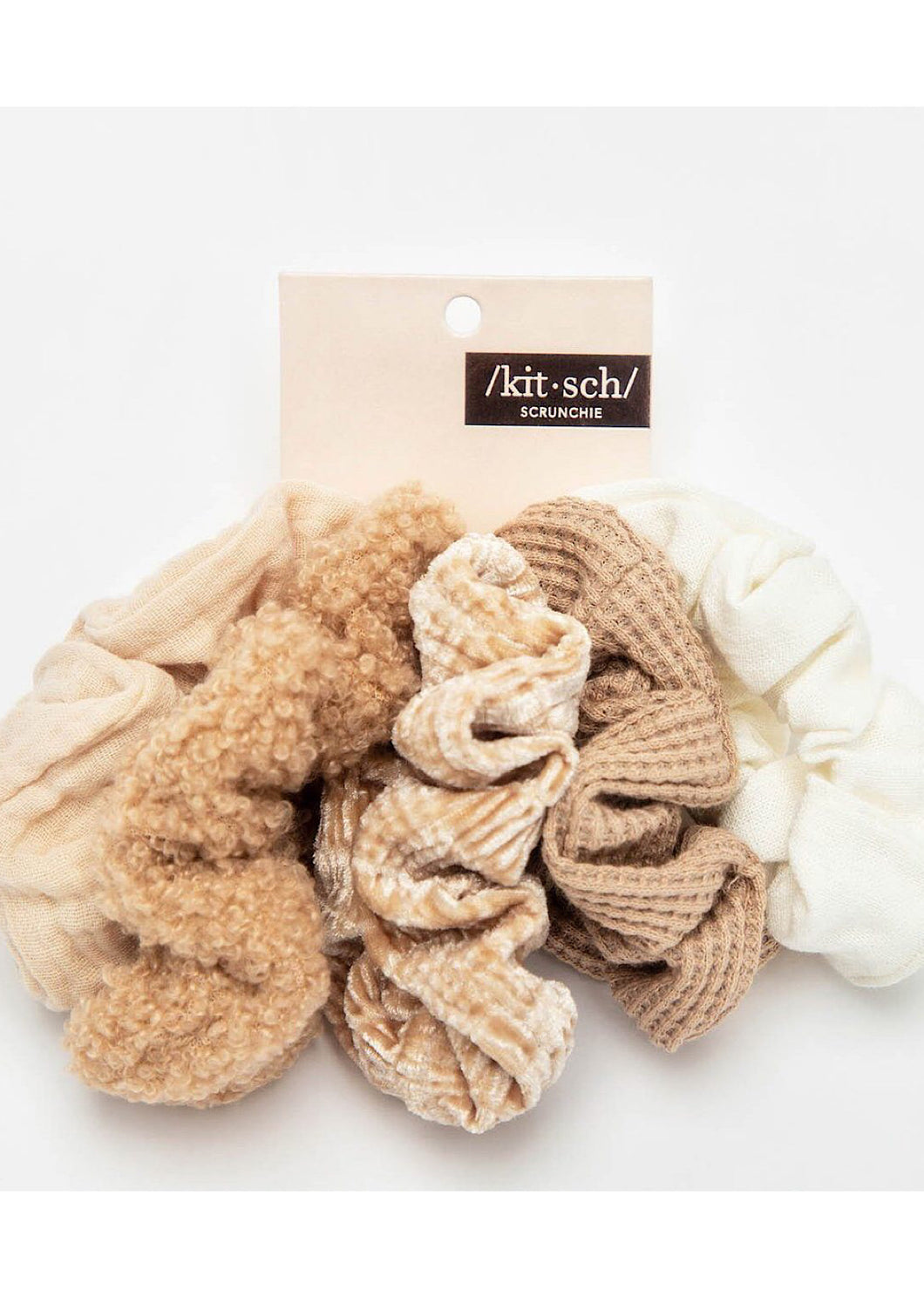 Kitsch Textured Scrunchie Pack