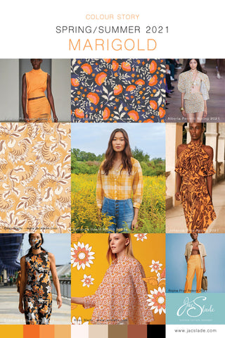 SS21 Trend Board Marigold Orange Colour Story by Jac Slade
