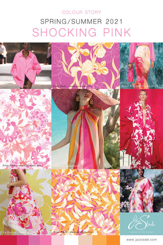 SS21 Trend Board Shocking Pink Colour Story by Jac Slade