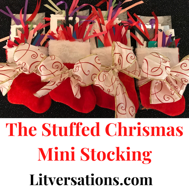 These Stuffed Christmas Stockings are best sellers every year! They are stuffed with items you choose and can be shipped directly to the recipient! These also make amazing Secret Santa Gifts for book clubs and book lovers!