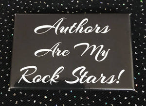 Authors Are My Rock Stars Button