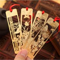 Delicate Gold Scenery Bookmarks #1 #2 #3 #4