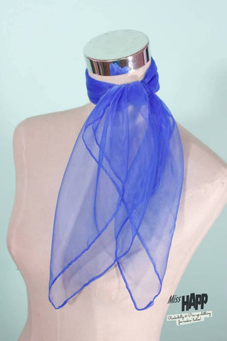 Royal Blue Nylon Scarf