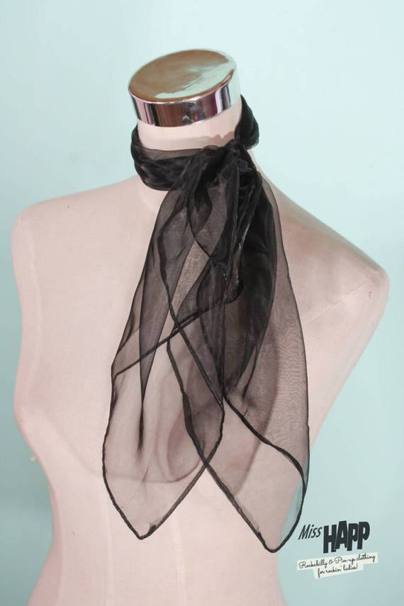 Black Nylon Scarf