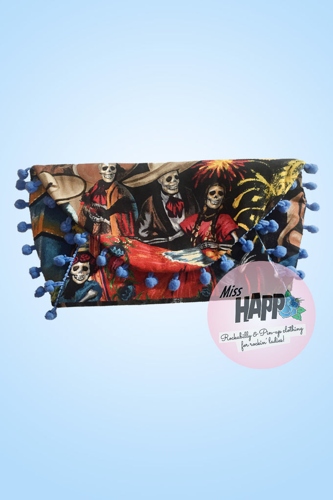 Festivale Skeleton envelope clutch bag