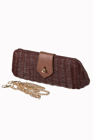 Lizzie Wicker Clutch Bag