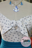 Agatha Anchor Print Top